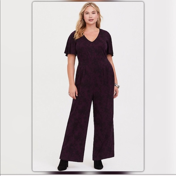 6d951bdfbf torrid Pants | Plus Sized Puple Black Jumpsuit | Poshmark